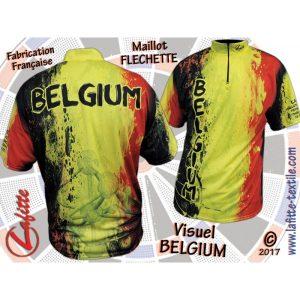 maillot belgique fléchettes