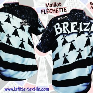 maillot bretagne (breizh) type fléchettes