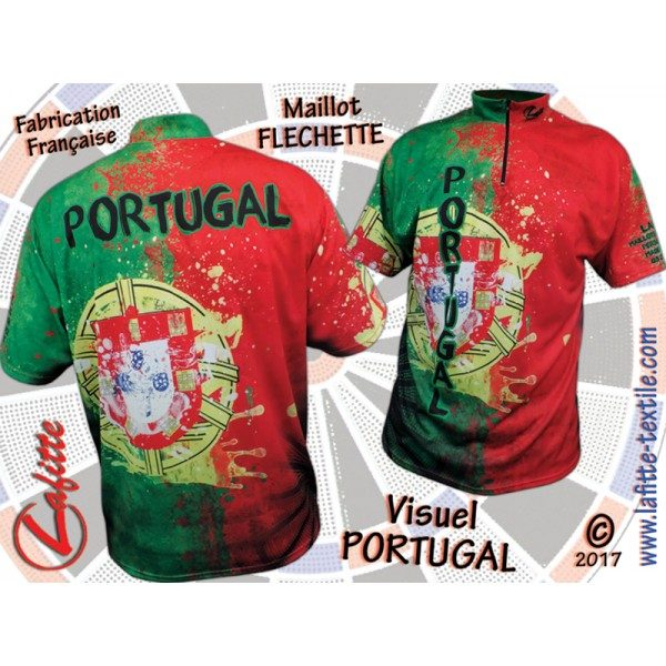 Maillot PORTUGAL de fléchettes made in France